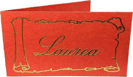 Imagen de100 Piezas Notas Tarjeta Detalle Graduación Papel en Rojo Scri