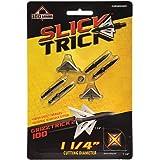 """Slick Trick 1 1//8/"""" Magnum Deep-Six Broadhead-Black//4 Blade-Deep-Six//100 G."""