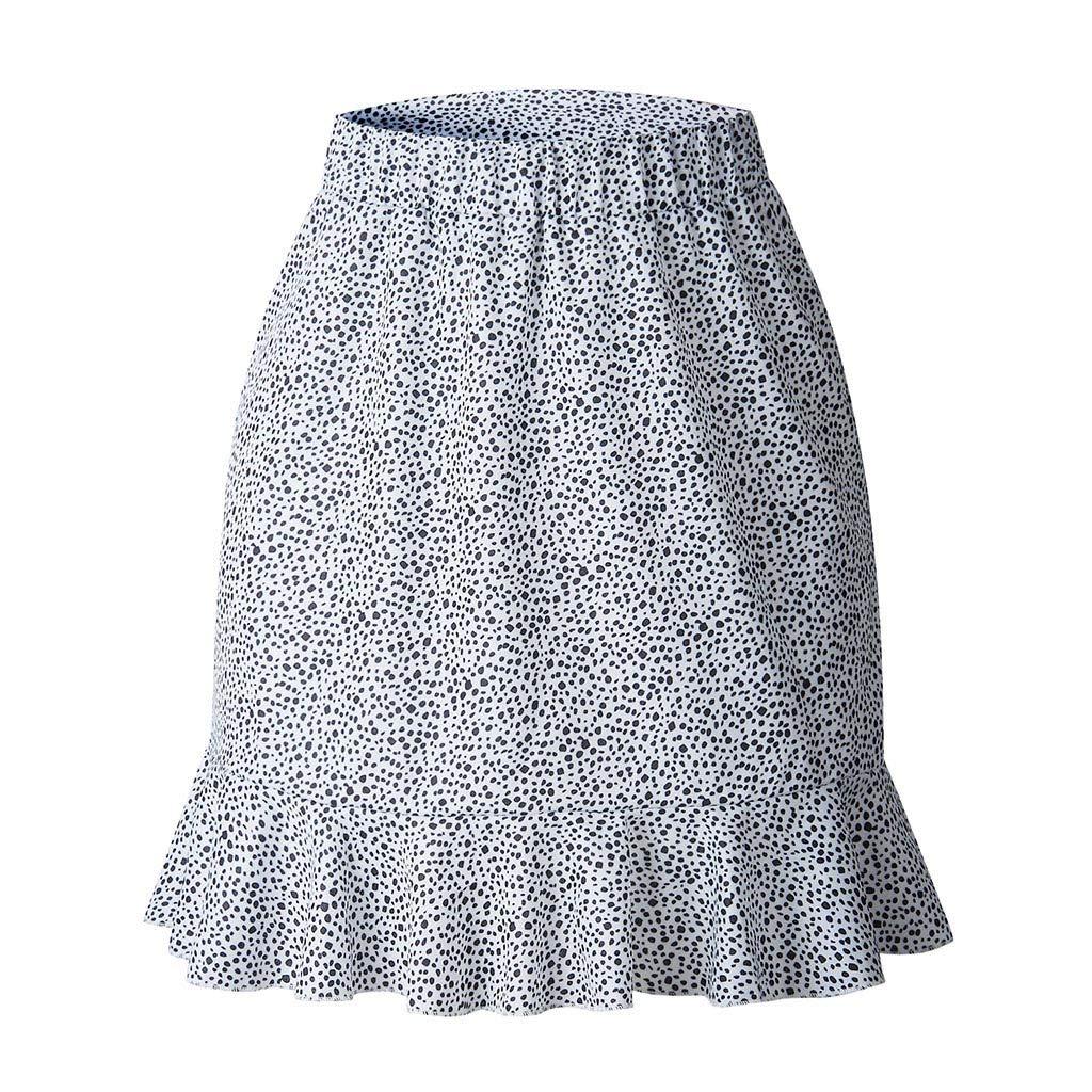 Loyalt Women Casual Retro High Waist Evening Party Short Print Skirt Mermaid Skirt
