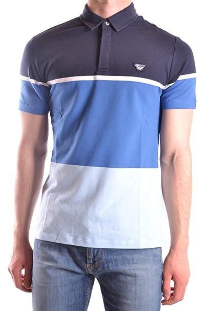 Armani Jeans 3Y6F056J0TZ Polo, Azul (Melange Grigio), S para ...