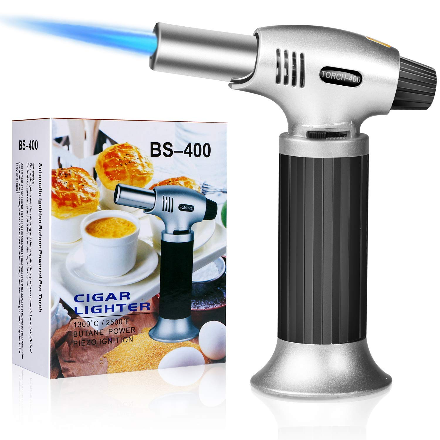 Candles Baking Grill Stove Gifort Kitchen Torch BBQ Refillable Blow Torch Lighter Outdoor Windproof Cooking Torch  for Creme Brulee Flame Lighter Cooking