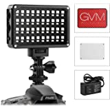 GVM LED Video Light Studio Photography Light Panel Dimmable RGB CRI 97+ 2000K-5600K Ultra Brightness Bi-colour for Digital Camera/Camcorder DSLR with Lithium Battery