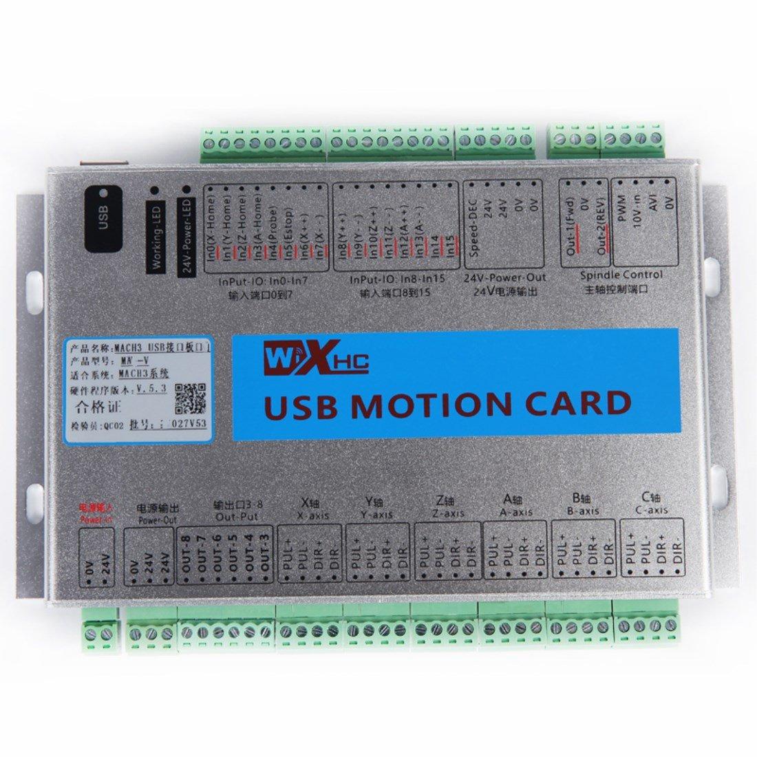 Kehuashina Mach3 4Axis Breakout Board CNC USB Motion Control Card 2MHz MK4-V Upgrade