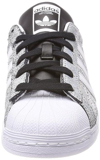 Adidas Superstar, Basket Mode Femme, Argenté (SupcolFtwbla