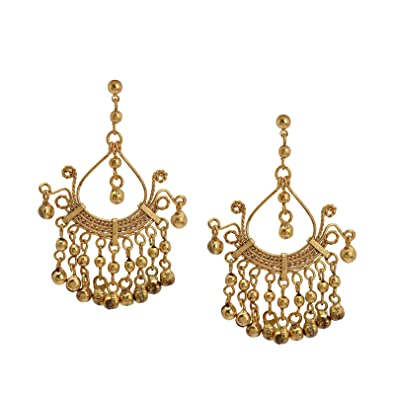 Buy Ornamenta Ethnic Drop Earrings Gold Tone Alloy Beaded Party