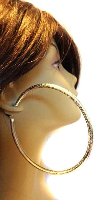 Amazon Com Basketball Wives Earrings Shiny Gold Hoop Earrings Round
