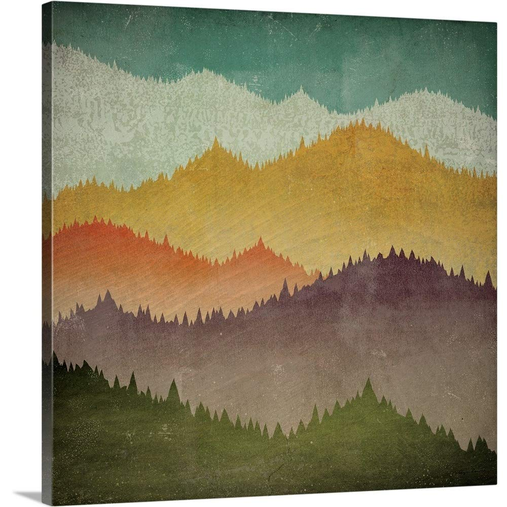 Ryan Fowlerプレミアムシックラップキャンバス壁アート印刷題名Mountain View 24