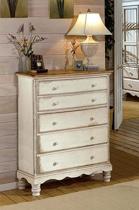 Superieur Hillsdale Wilshire 5 Drawer Chest In Antique White