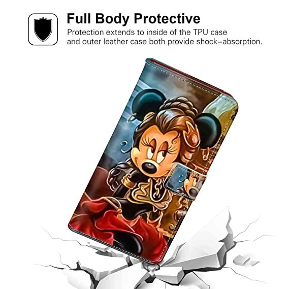 reputable site 1e4bd 1a06c Amazon.com: Galaxy S9 Plus (6.2in) Wallet Case Minnie Mouse Star ...