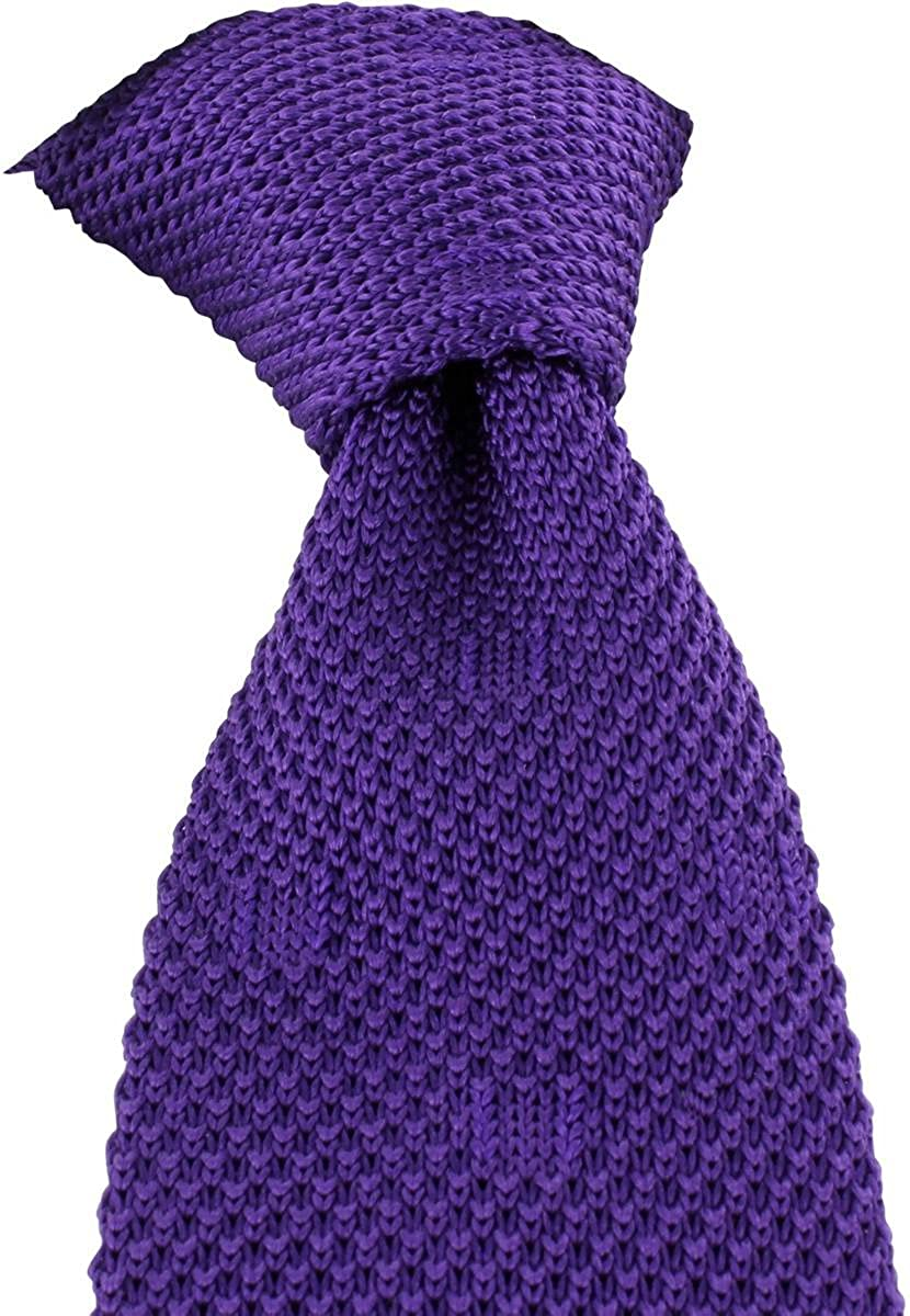 Purple Michelsons of London Mens Textured Spot Silk Knitted Tie