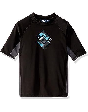 3ee004fc8a Kanu Surf Boys' Haywire UPF 50+ Sun Protective Rashguard Swim Shirt