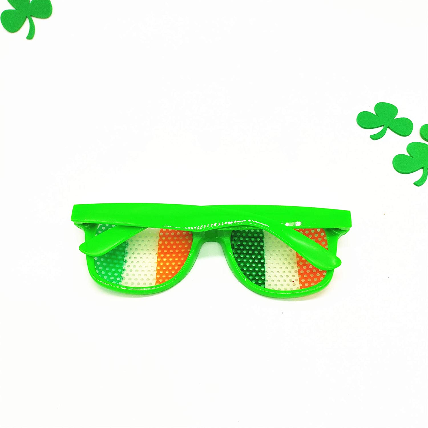 Men's Eyewear Frames Funny Shamrock Design Sunglasses Creative Holiday Cosplay Costume Glasses Accessory