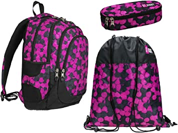 St.Right More Berries - Set de Mochila + Estuche + Bolsa de Deporte para Escuela Primaria Media Superior para niña: Amazon.es: Equipaje