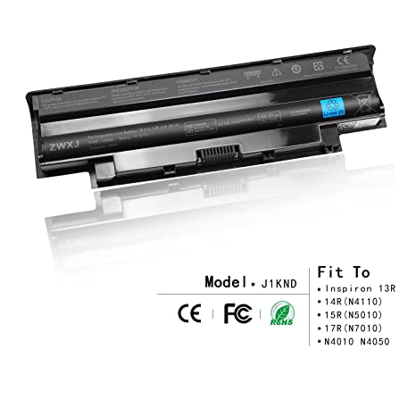 ZWXJ Laptop Battery Type J1KND(11 1V 48Wh) for DELL Inspiron 13R 14R(N4110)  15R(N5010) 17R(N7010) N4010 N5050 M5010 N4050 N5030 J1KND 9T48V Vostro