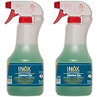 INOX® ruitenreiniger ruitenreiniger, 2 x 500 ml - effectief glasreiniger-concentraat voor autoruiten