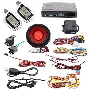 Calidad Spy 2 way coche sistema de alarma de seguridad ...