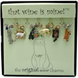 Wine Things WT-1472P Cats Wine Charms, Painted