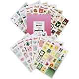 Lamare Holiday Seasonal Planner Stickers Set – Seasonal Monthly Stickers Pack 12 Sheets Mini Version