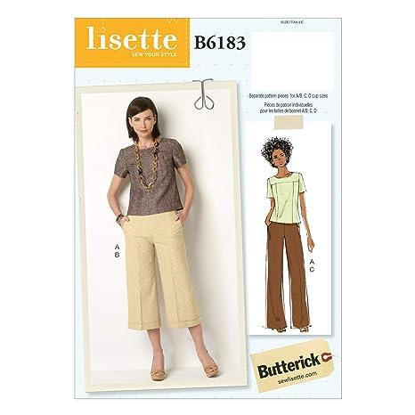 Vogue Patterns 6183 E5 - Libro de Patrones de Costura de Camisetas y Pantalones para Mujer