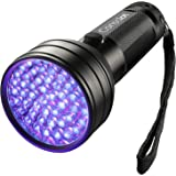 Consciot 51 LED UV Flashlight Black Light 395nm Ultra Violet Blacklight Torch Light Pet Urine Detector for Dry Dog Urine, Pet