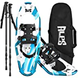 ALPS 14/17/22/25/27/30 Inches Light Weight Snow Shoes for Men, Women, Youth with Trekking Poles,Carrying Tote Bag