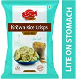 SSOM Brown Rice Crisps Sea Salted Flavour Non Fried Snacks (5 Packets)