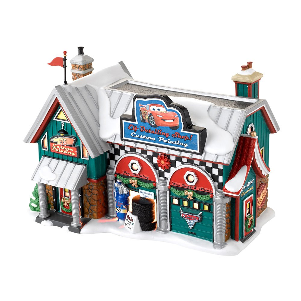 Department 56 North Pole Village Cars Holiday Detail Shop Lit House, 5.55 inch 4025277