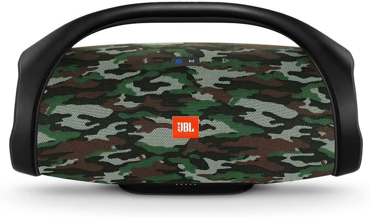 Black JBL Boombox Waterproof Portable Bluetooth Speaker with 24 hours of Playtime