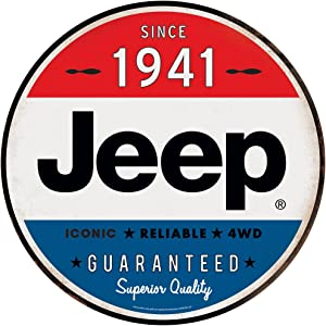 Jeep Since 1941 Round Metal Sign