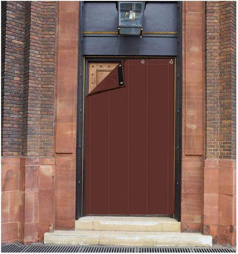 CAIJUN-Cortina de puerta Personalizable Invierno Plegable A Prueba De Viento Impermeable Mantener Caliente Aislamiento Acústico Al Aire Libre, 3 Colores (Color : Brown, Tamaño : 150x250cm)