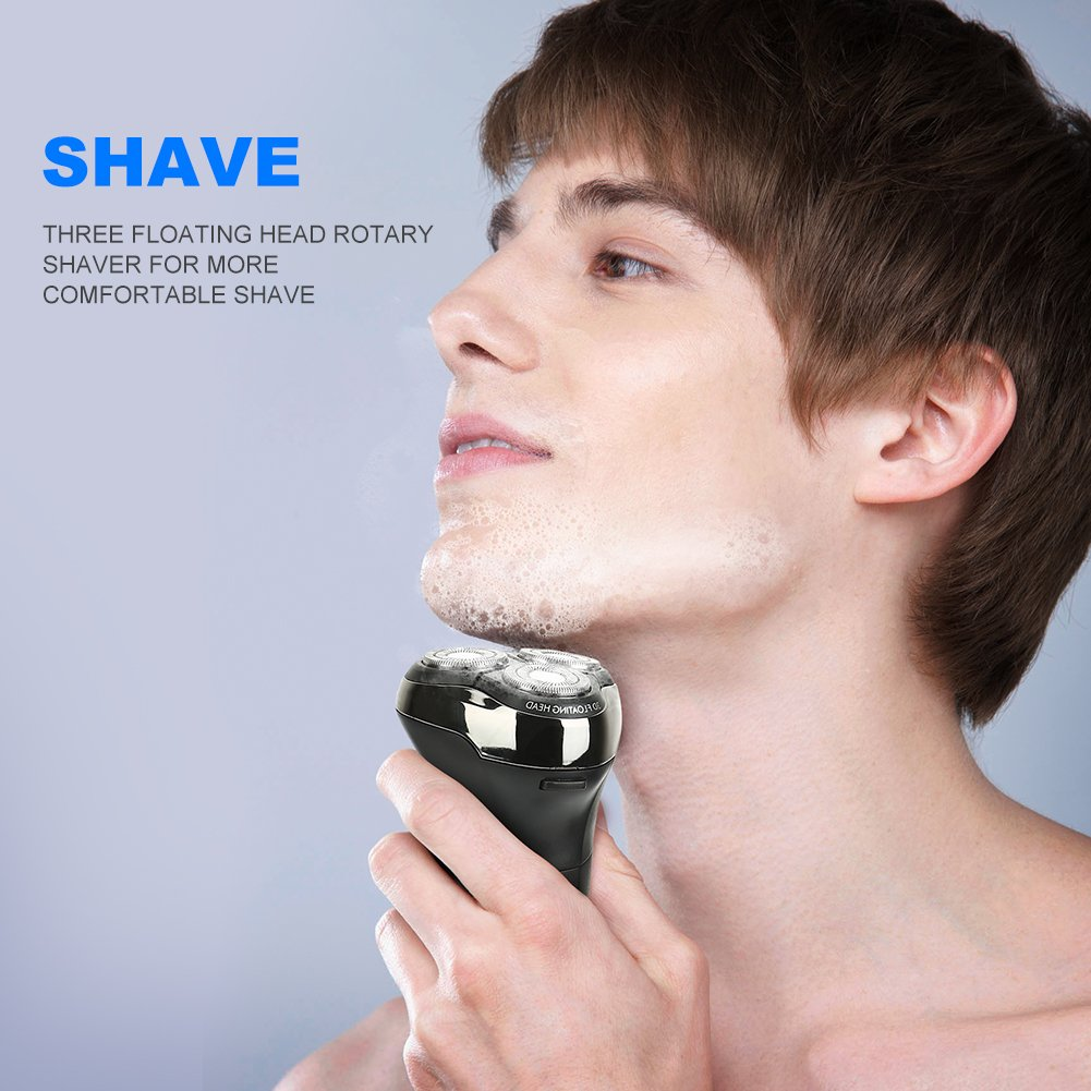 Mens Electric Razor & Hair Clipper 2-in-1 Set, Rechargeable Shaver Cordless Hair Trimmer