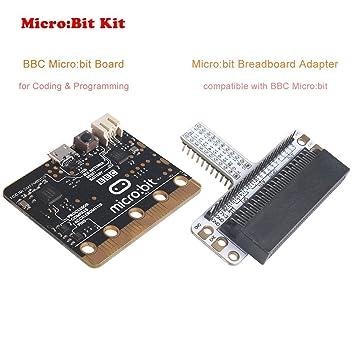 MakerHawk Microcontrolador BBC Micro: bit Board con detección de Movimiento, Mompass, Pantalla LED