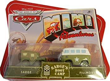 Disney Cars - M9649 - Voiture - Mini Aventures 2Pk - Sergent's Boot Camp - Sergent et Fillmore 0DjayF