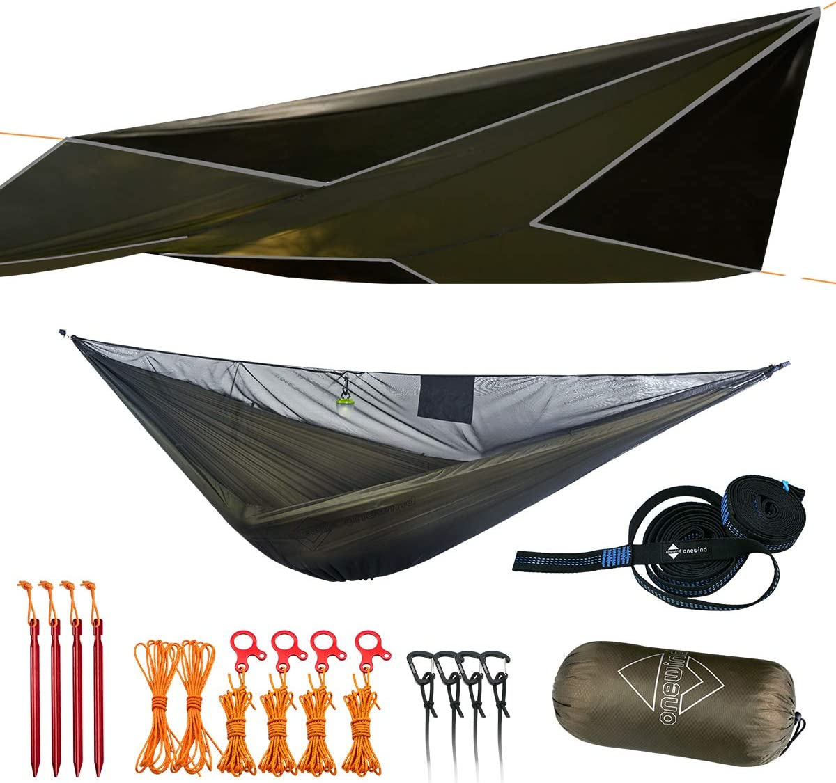 Camping Hammock – Sloth and Fox Outdoor Double Outdoor Hammock with Carabiners Tree Saver Straps