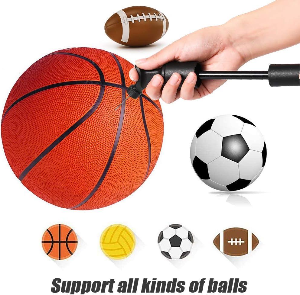 Rugby Volley Handball ou Autres Balles Gonflables Basket HAPPON Pompe /à Ballons,Durable de Pompe /à Air de Pneu,Utilisation Facile avec Valves,Facile /à Transporter,Ballon de Football