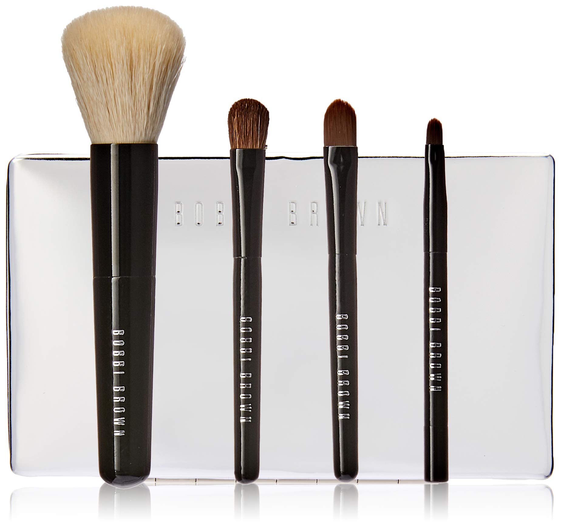 Bobbi Brown Mini Brush Set By Bobbi Brown for Women - 5 Pc Brush Case, Mini Face Blender Brush, Mini Cream Shadown Brush, Mini Eye Shadown Brush, Mini Ultra Fine Eyeliner Brush, 5 Count