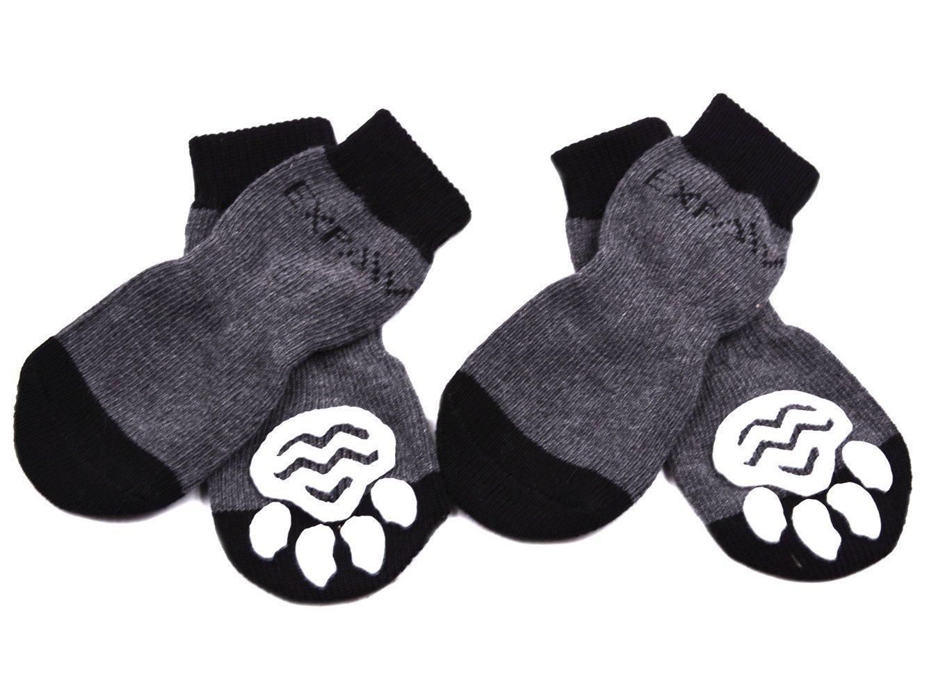 EXPAWLORER Anti-Slip Dog Socks for Indoor Wear, Paw Protection Sock001-BS-1