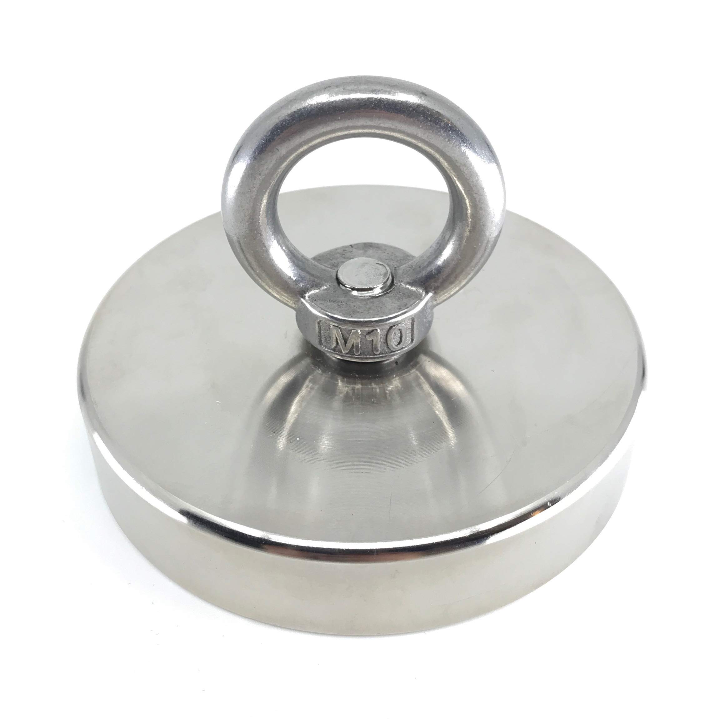 1000 LBS (452kg) Strong Fishing Magnet by Savage Magnets - Brute Strength for Treasure Hunting Retrieving and Lifting from River and Salvage Recovery- Heavy Duty Pulling Power Eyebolt - Neodymium