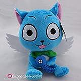 "Fairy Tail Happy Cat 10"" Blue Plush Doll Stuffed Figure Natsu Friend Great Gift"