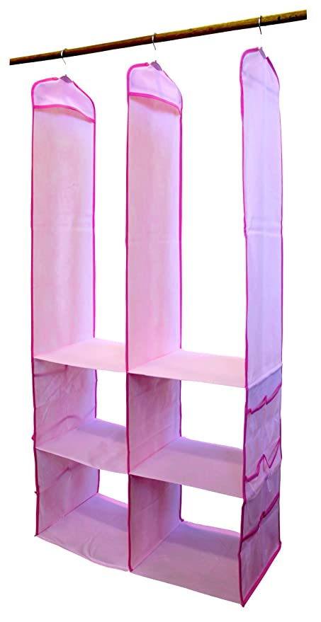 Delta SOS 2005 689 4 Shelf Nursery Closet Organizer   Pink