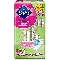 Saba Pantiprotectores Regulares, Paquete de 100
