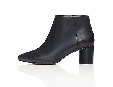 6d8370b1cd1a47 find. Bottines Talons Ronds Femme: Amazon.fr: Chaussures et Sacs