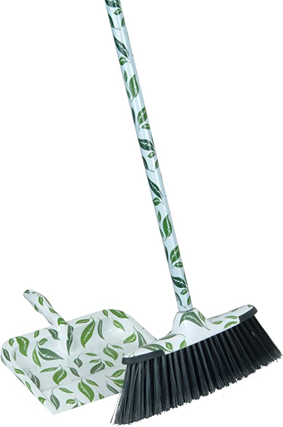 2-Piece Leaf Broom and Dustpan Set best broom