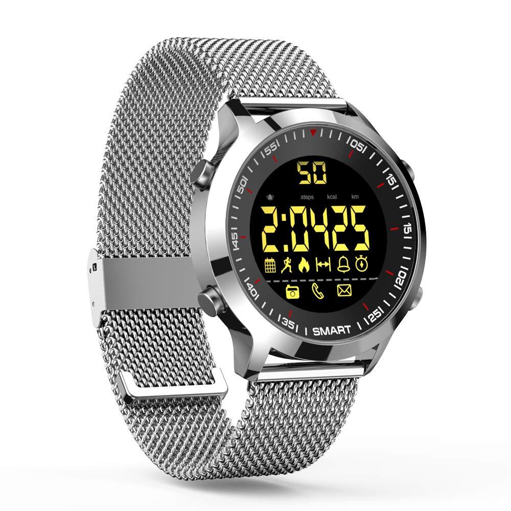 ZRSJ Reloj Inteligente EX18 Podómetro Impermeable Bluetooth Smartwatch Call SMS Reminder Muñequera Seguimiento de Actividad Reloj Deportivo Compatible con ...
