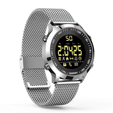 ZRSJ Reloj Inteligente EX18 Podómetro Impermeable Bluetooth Smartwatch Call SMS Reminder Muñequera Seguimiento de Actividad Reloj