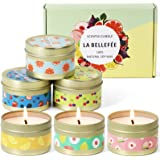 LA BELLEFÉE Scented Candles, Aromatherapy Candles, Fruity Fragrance, Party Holidays Gift Set Candles, Natural Soy Wax Candles