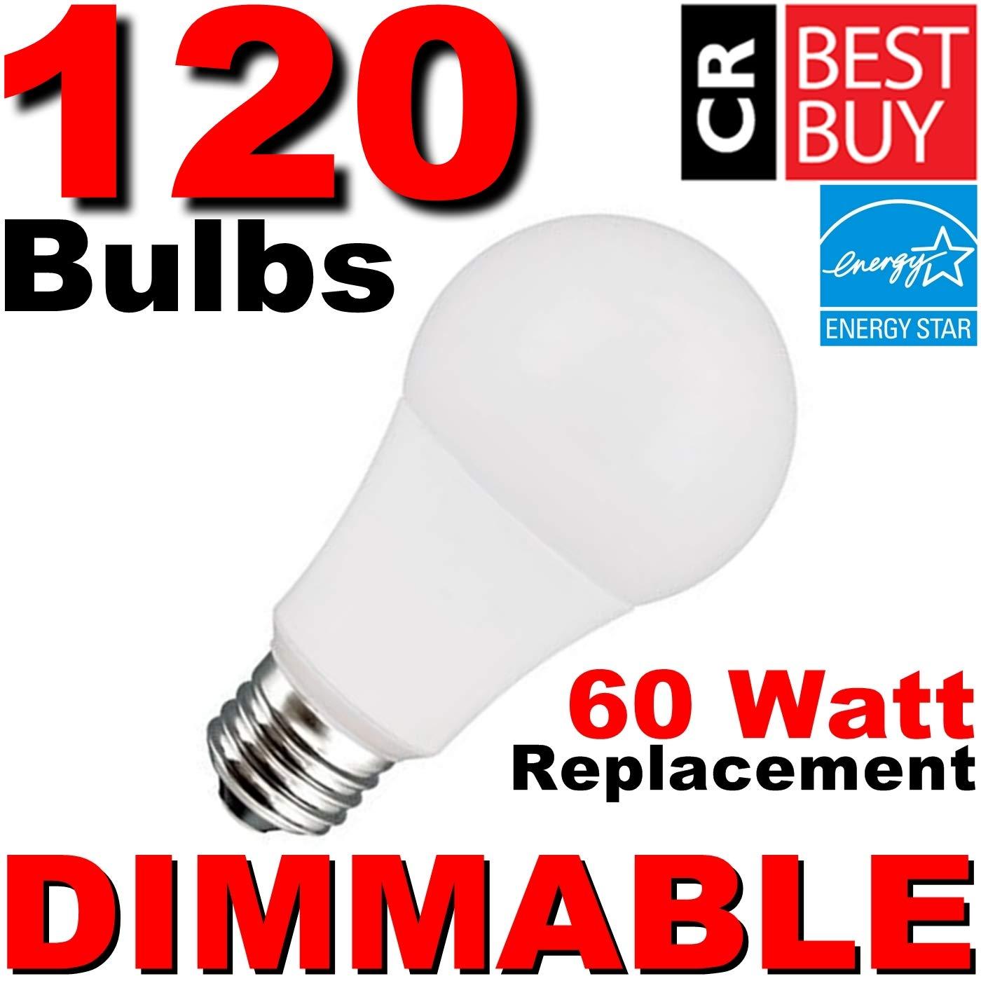 調光機能付き60 W LEDソフトホワイトa19 ~ ConsumerレポートBest Buy ~ 9.5 W (60ワット相当) 2700 Kライト電球、Made by TCP、120電球ケース B07FLLZSJD