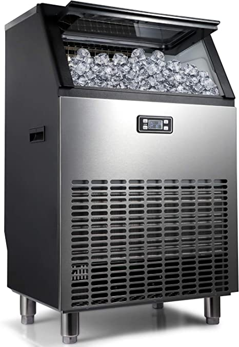 Amazon Com Northair Commercial Ice Maker Machine 270lbs Ice In 24hrs With 55 Lbs Storage Capacity Stainless Steel Free Standing Ice Maker Machine With Lcd Display Ideal For Restaurant Bar Coffee Shop Kitchen