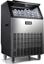 Northair Commercial Ice Maker Machine 270lbs Ice in 24hrs with 55