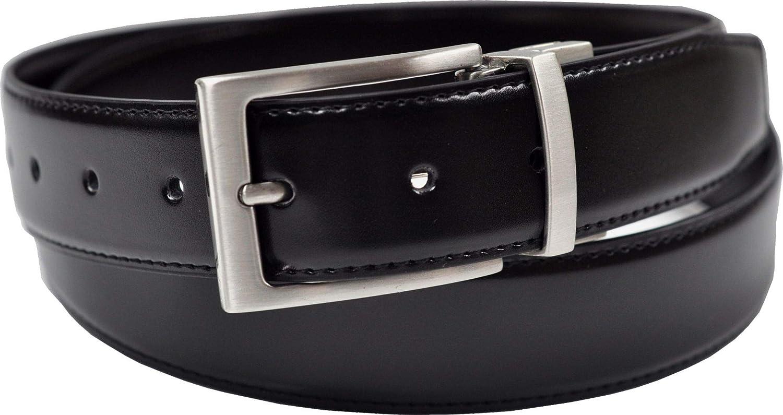 Ashford Ridge 34mm en caja de regalo Twist reversible del cinturón de cuero recubierto en Negro/marrón (tamaños de 80cm a 120cm)